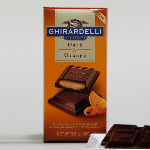 Ghirardelli Dark Chocolate Orange Filled Bar