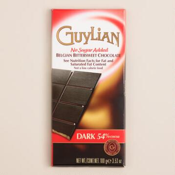 Guylian No Sugar Added Dark Chocolate Bar, Set of 2