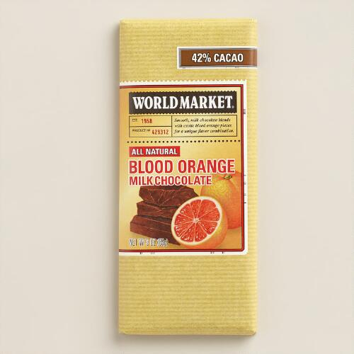 World Market® Blood Orange Milk Chocolate Bar, Set of 2