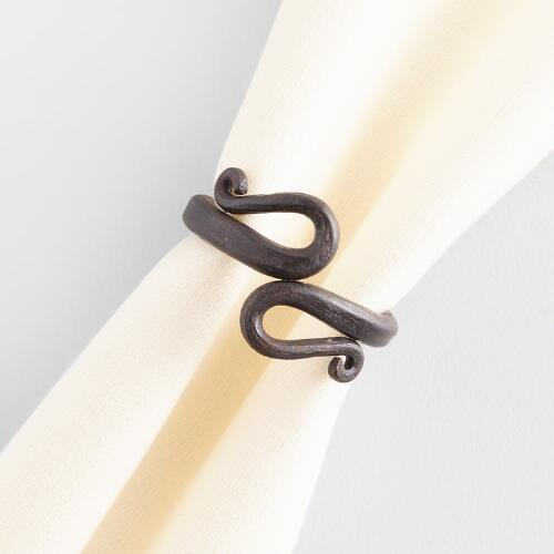 Fiddlehead Napkin Rings, Set of 4
