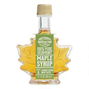 Mini Maple Leaf Syrup Bottle, Set of 6
