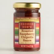 Bronco Bob's Roasted Raspberry Mini Chipotle Sauce Set of 12