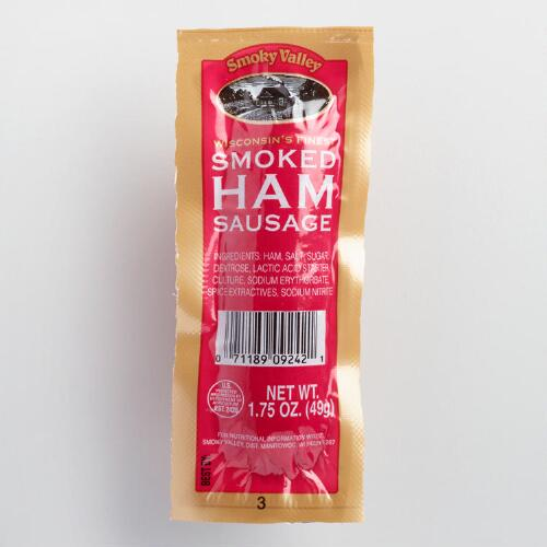 Smoky Valley Smoked Ham Sausage, Set of 36