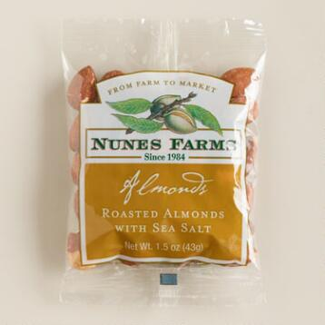 Nunes Farms Roasted Almonds with Sea Salt, Set of 24