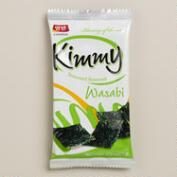 Wasabi Kimmy Seaweed Snacks, Pack of 8