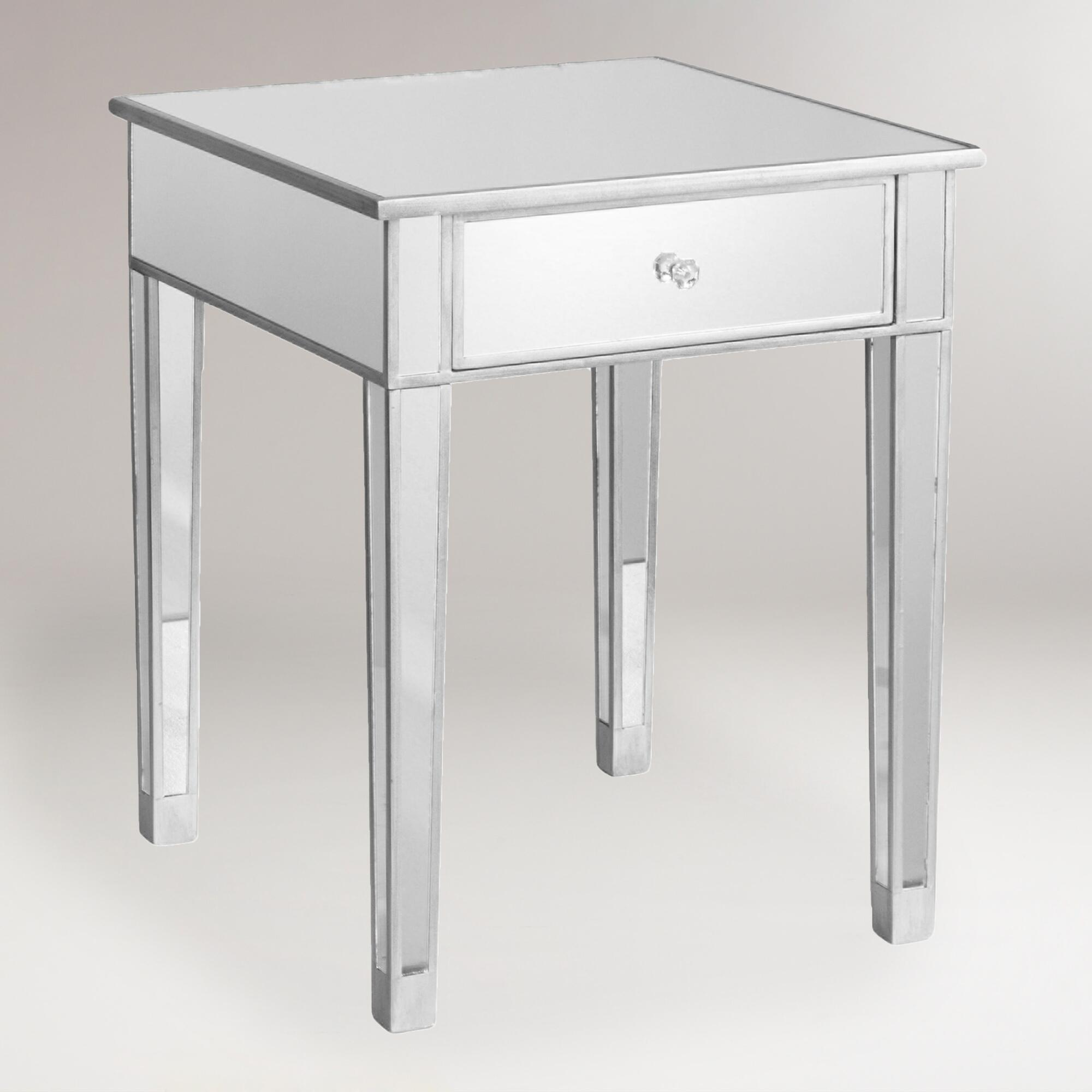 Mirrored accent table world market for Mirror table