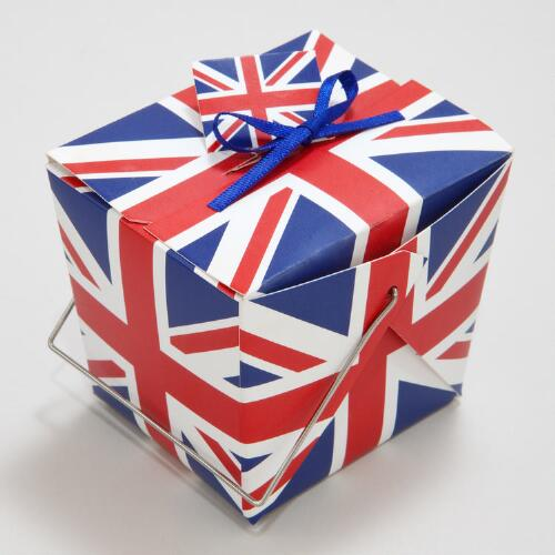 Union Jack Mini Take-Out Boxes, Set of 12