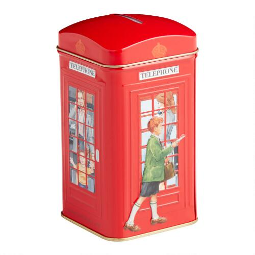 London Telephone Tea Tin, 25-Count
