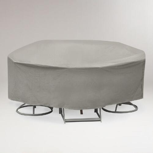 Outdoor Round Table and Four to Six Chair Cover