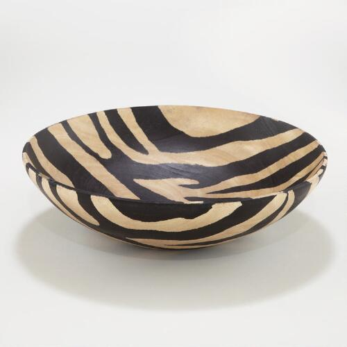 Wood Zebra Bowl