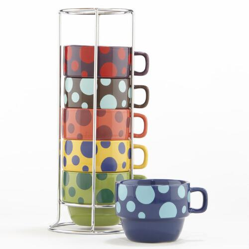Bubbles Stacking Mugs