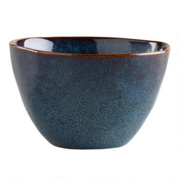 Indigo Organic Reactive Glaze Serving Bowls, Set of 2