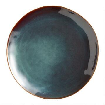 Indigo Organic Reactive Glaze Dinner Plates, set of 2