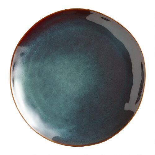 Indigo Organic Glaze Dinner Plates, Set of 2