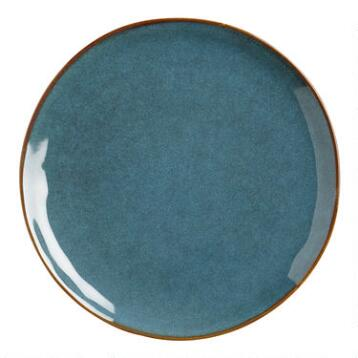 Indigo Organic Reactive Glaze Salad Plates, Set of 2