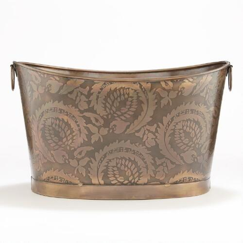Sofia Embossed Copper Tub
