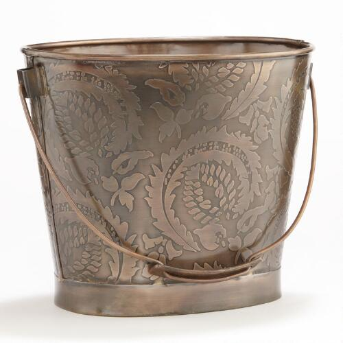Sofia Embossed Copper Bucket