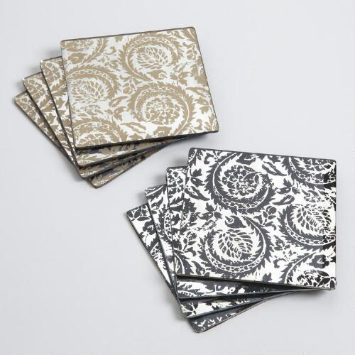 Sofia Mirrored Coasters, Set of 8
