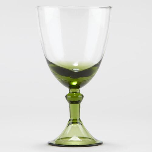 Green Sofia Goblet, Set of 2