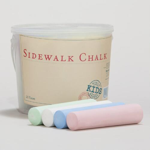 Red Sidewalk Chalk Twenty Piece Tub
