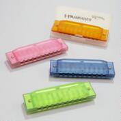 Translucent Color Harmonicas, Set of 4