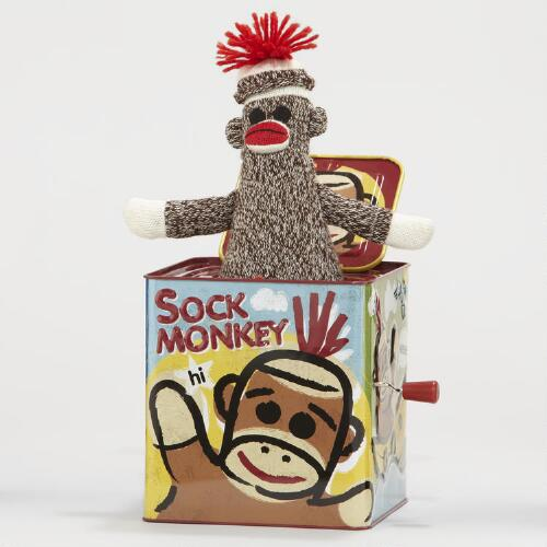 Sock Monkey-in-the-Box