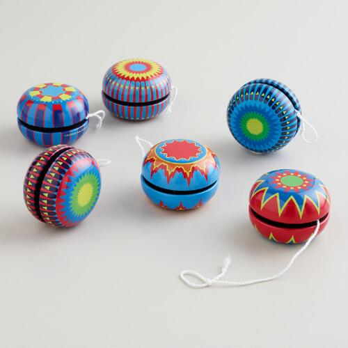 Tin Yoyos, Set of 6