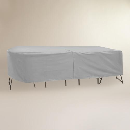 Large Outdoor Oval or Rectangular Table and Chair Cover