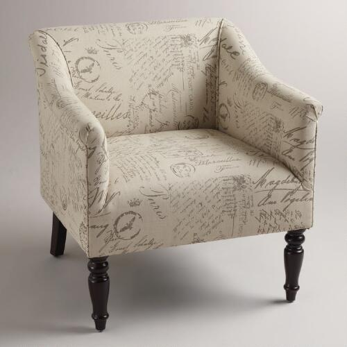 French Script Charlotte Chair