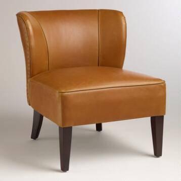 Caramel Quincy Leather Chair
