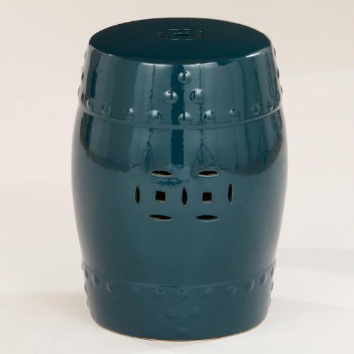 Mallard Ceramic Lotus Stool