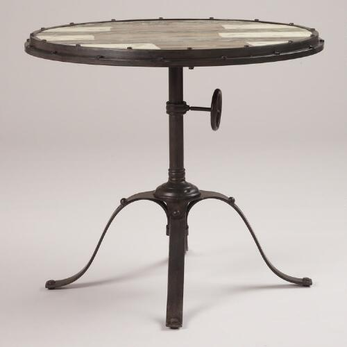 Hughes Industrial Accent Table