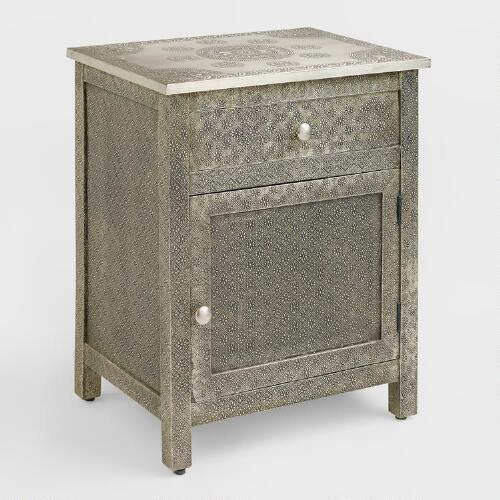 Kiran Embossed Metal Cabinet World Market