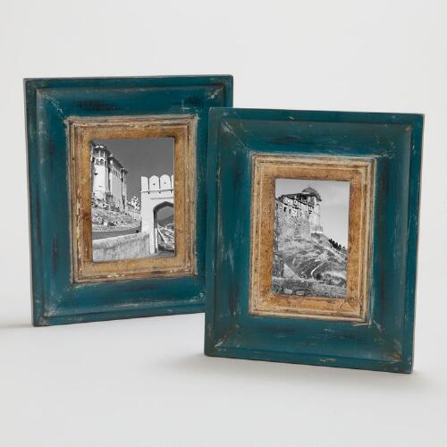 Catarina Gilt Frame Blue Gilt