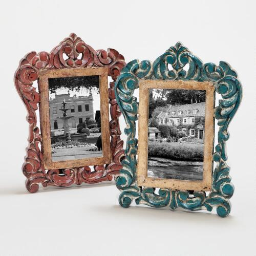 Red and Blue Catarina Frames, Set of 2