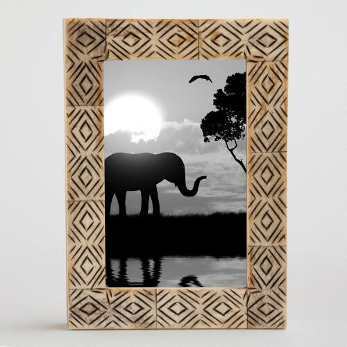 Natural Zahara Tribal Carved Frame