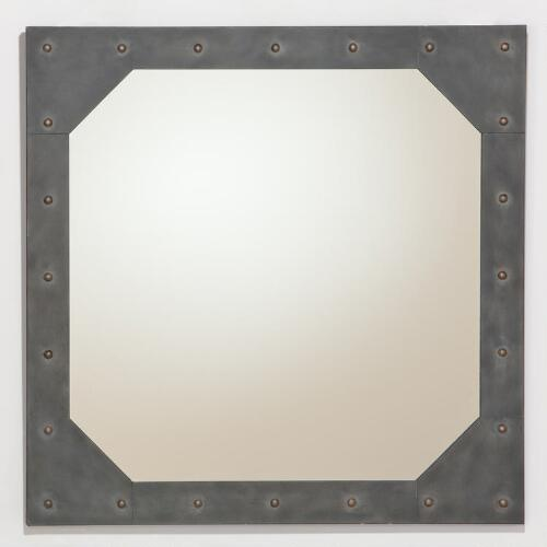 Jace Metal Mirror with Studs