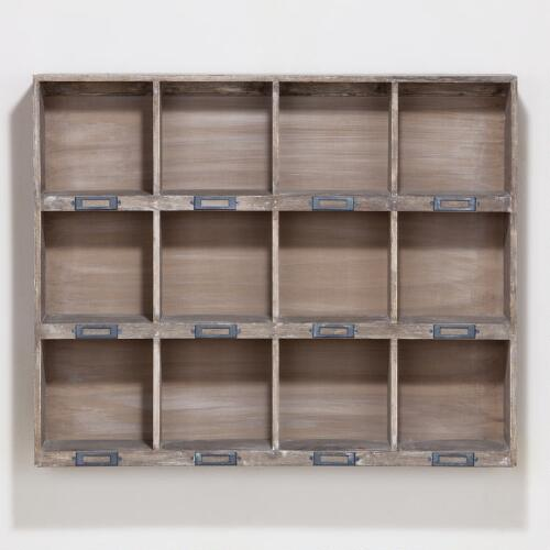 Owen Wood 12-Slot Wall Cubby