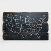Wood USA Wall Map