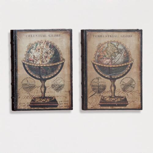 World Book Wall Plaques, Set of 2