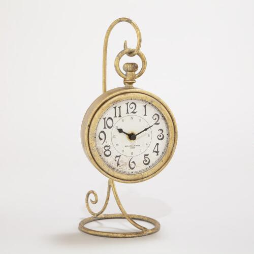 Gold Clock with Stand