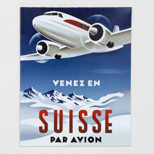 Suisse Plane Metal Plaque