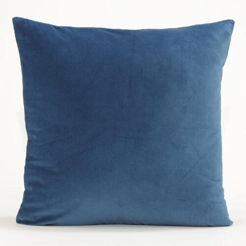 Legion Blue Velvet Throw Pillow Collection