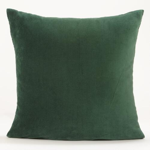 Green Eden Velvet Throw Pillow