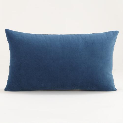 Legion Blue Velvet Lumbar Pillow