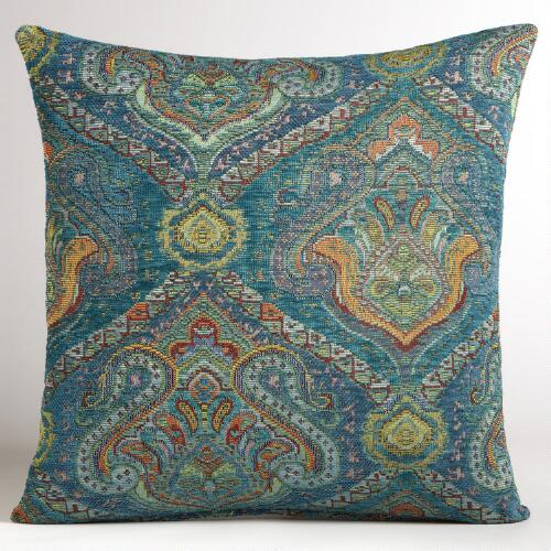 Peacock Jacquard Venetian Pillow