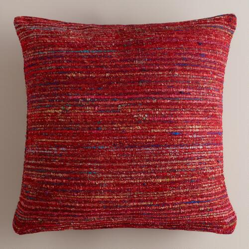 Berry Recycled Silk Sari Pillow
