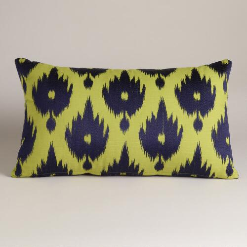 Cool Ikat Throw Pillow