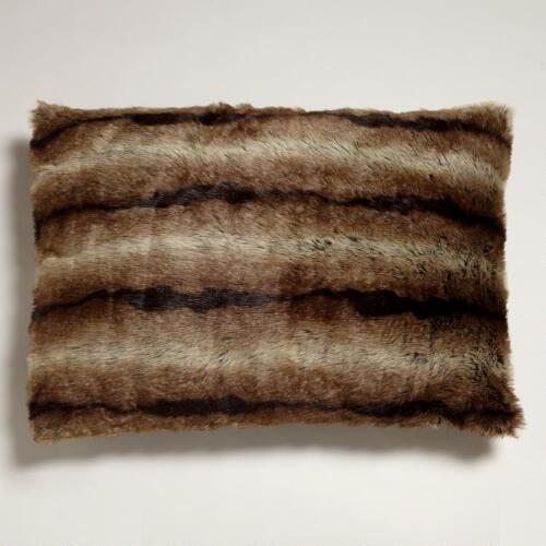 "Marble Faux Fur Pet Bed 27"" x 36"""