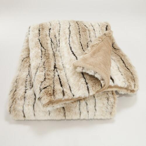Faux Antelope Throw